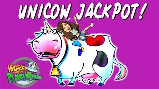 UNICOW JACKPOT!!$!$! 300+ SPINS!  Invaders Return From the Planet Moolah! Winstar Casino