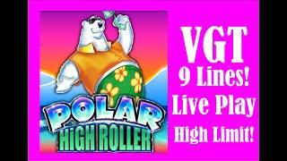 VGT 9 Lines ️ Polar High Roller ️  High Limit Red Spins!