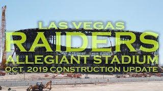 Las Vegas RAIDERS Allegiant Stadium October Construction Update