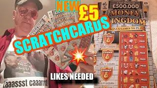 •The NEW £5 Scratchcards•MONEY KINGDOM•..40 LIKES•needed•️and on they go•later•️