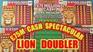 "£75 MILLION CASH SPECTACULAR """"LION SHARE DOUBLER""""JEWEL SMASH""""BINGO BONUS""""SCRATCHCARDS"