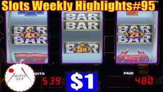 Slots Weekly Highlights#95 for You who are busy High Limit Progressive Jackpot BLAZIN GEMS  Slot