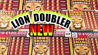 "NEW... LION SHARE""DOUBLER""   SCRATCHCARDS ..CASHWORD MULTIPLIER...NEW MONEY KINGDOM CARD.."