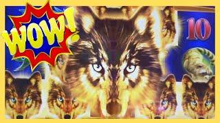 HUGE WIN on KONAMI Golden Wolves! The Wolves Brought Their Friends! | Casino Countess