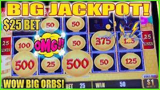 Lightning Link Slot Machine | BIG JACKPOT HANDPAY | $25 BET High Limit Lightning Link
