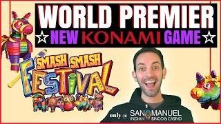 WORLD PREMIER  NEW GAME - Konami's Smash Smash Festival  San Manuel in Southern California