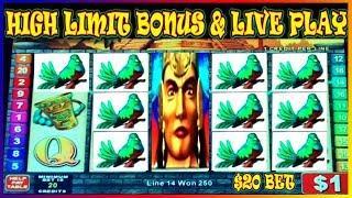 MAYAN CHIEF  $20 BET HIGH LIMIT SLOT  BONUS & LIVE PLAY