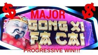 HUGE MAJOR PROGRESSIVE WIN #3!  GONG XI FA CAI SLOT MACHINE POKIE - PALA CASINO