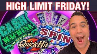 $15 MAX BET QUICK HIT!! | CASH MACHINE | WHEEL OF FORTUNE | MIGHTY CASH DOUBLE UP | EEEEE!
