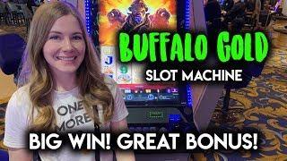 Lucky Break!! BIG WIN! Buffalo Gold Slot Machine! BONUS!!