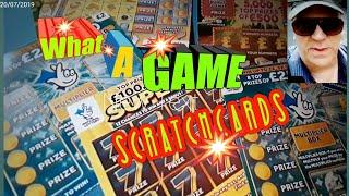 •WhoooooOÒOO!!•What Scratchcard Game•Wow!•INSTANT £500•Lucky Numbers•£250,000 Blue•Super7s•
