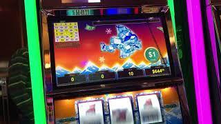 """LIVE HANDPAY""  VGT Slots Polar High Roller More Playing  Choctaw Gambling Casino, Durant, OK"