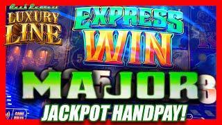 HUGE MAJOR JACKPOT HANDPAY ON LUXURY LINE  LJ TAKES OVER THE CHANNEL & WINS BIG!