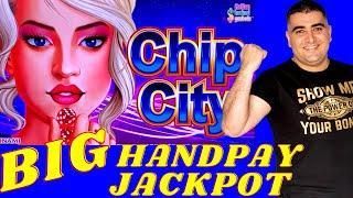 Big Handpay Jackpot On High Limit Konami CHIP CITY Slot Machine | High Limit Slot Play & Big Wins