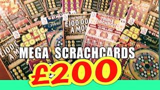 MEGA  SCRATCHCARD  GAME..50X..MONOPOLY CASH VAULT.GOLD 7s