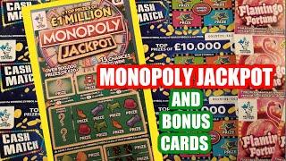 Wow!......Scratchcard MONOPOLY JACKPOT..And Lots BONUS CARDS.....more than a One Card Wonder