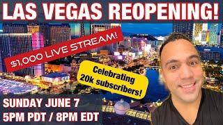 20,000 Subscriber Celebration Live Slot Play from Las Vegas!! 5pm PST / 7pm CST / 8pm EST!!