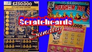 Scratchcards..£250,000 Blue....Dough me the Money......Bee Lucky...etc