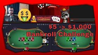 $5 to $1000 Cash Game Poker Bankroll Challenge Part 3 | Rounder Casino