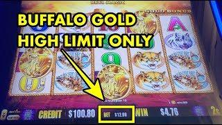 Buffalo Gold BIG BET Collection (only high limit bets and bonus wins)