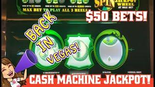 CASH MACHINE SLOT JACKPOT! $50 BETS plus 3X4X5X AIRA PROGRESSIVE & $20 DOUBLE GOLD SLOT PLAY