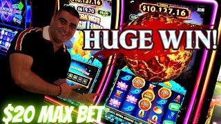 HUGE WIN On Ultra Hot Mega Link Slot Machine - $20 Max Bet   Mega JACKPOT On Star Watch Fire Slot
