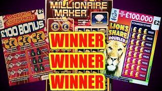 WIN..WIN..WIN...with ..MILLIONARE MAKER..JEWELS SMASH..LION DOUBLER..£100 BONUS..£25,000 Month..WADS