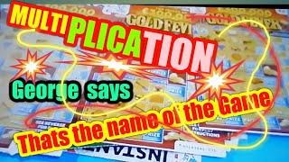 """•Multiplication•Bonus•through the night with Scratchcard George•""""LIKES•for more night games•"""