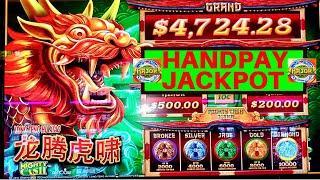 My 1st HANDPAY JACKPOT On Mighty Cash Long Teng Hu XIAO Slot Machine | LIVE MAJOR JACKPOT WON