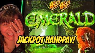 HANDPAY JACKPOT ON WILD WILD EMERALD & CASH MACHINE