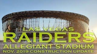 Las Vegas Raiders Allegiant Stadium November 2019 Construction Update
