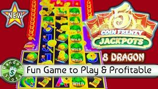 "️ New - 5 Coin Frenzy Jackpots ""8 Dragon"" slot machine, Bonuses"