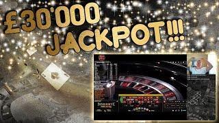 £30,000 Jackpot Live Roulette!   Insane Roulette Action