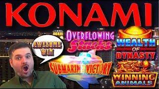Konami Craziness! Slot Machine LIVE PLAY and BONUSES on Konami Slot Machines