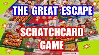 Wow!  WINNER    The GREAT Escape Scratchcard Game  FAST 500  Cock A Doodle Dough  SUPER 7's..Classic