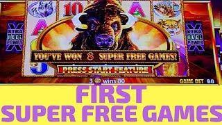 Buffalo Gold SUPER FREE GAMES - Wonder 4 Tall Fortunes Slot Machine Bonus