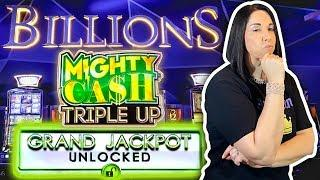 NEW SLOT  BILLIONS MIGHTY CASH TRIPLE UP  CAN I TRIPLE UP IN VEGAS ‼️