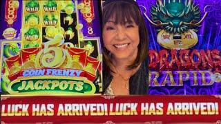 NEW GAME 5 COIN FRENZY JACKPOTS & 5 DRAGONS RAPID