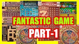 FANTASTIC  SCRATCHCARD GAME..Part-1..CASH 7s DOUBLER..CASHWORD..BINGO..WONDERLINES..MONEY SPINNER