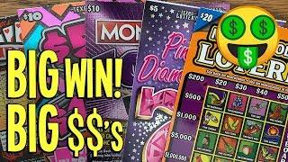 **BIG WIN!**  DIDN'T EXPECT THAT!  $70 Lottery Scratch Off Tickets + BONUS!