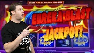 Lock it Link Eureka Blast Jackpot  $25 Free Spins Boom + High Limit Huff N Puff Slots!