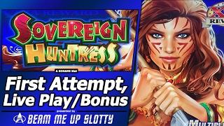 Sovereign Huntress Slot - Live Play with Free Spins Bonuses and Super Free Games features