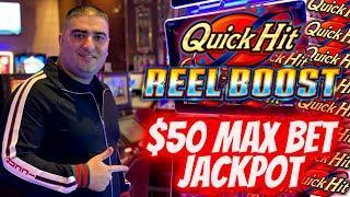 HANDPAY JACKPOT On New HIGH LIMIT Quick Hit Slot - $50 Max Bet ! New Slot Bonuses Won - $25 Max Bet