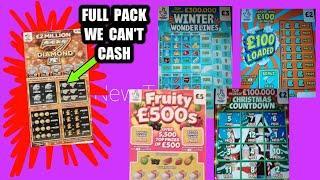 "Game On...Scratchcards""FESTIVE £500""Winter Wonderlines""Bingo""£100 Loaded""5X Cash""Cash Drop""WIN £50"