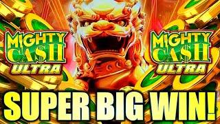 SUPER BIG WIN!! GOT THE ULTRA FEATURE! LION CHARGE MIGHTY CASH ULTRA Slot Machine (Aristocrat)