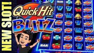 NEW SLOT! QUICK HIT BLITZ - BLITZ BLITZ BLITZ! Slot Machine Bonus Win! (SG)