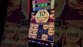 $100 A Spin Dragon Link Bonus & JACKPOT #SHORTS
