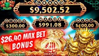 High Limit Fu Dai Lian Lian Dragon  Slot $26.40 Max Bet Bonus | Live Slot Play | SE-11 | EP-13