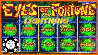 ️HIGH LIMIT Lightning Link Eyes Of Fortune HANDPAY JACKPOT ️$25 MAX BET BONUS ROUND Slot Machine