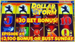 ️HIGH LIMIT Dollar Storm Ninja Moon ️$30 SPIN BONUS ROUND Slot Machine Casino